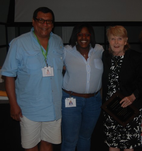 ADCNC Staff (L to R: Hector Mendoza, Erika Williams, Anne Doolen) at NCFADS Summer School Conference